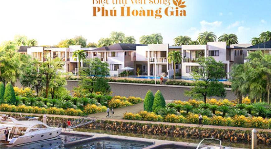 Khu biệt thự ven sông Phú Hoàng Gia - TP Tân An