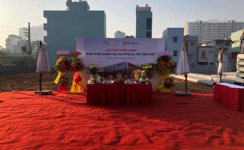 Tổng thầu Newtecons và chủ đầu tư Kita Group chính thức khởi công xây dựng nhà điều hành và nhà mẫu dự án căn hộ Stella Võ Văn Kiệt