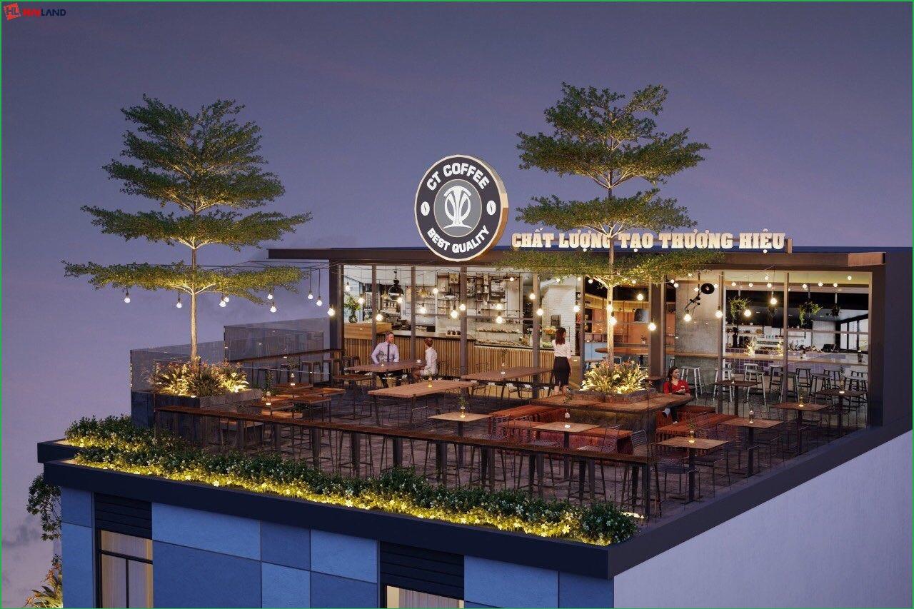 CT Cafe tại sân thượng nhà ở dịch vụ lũy bán bích