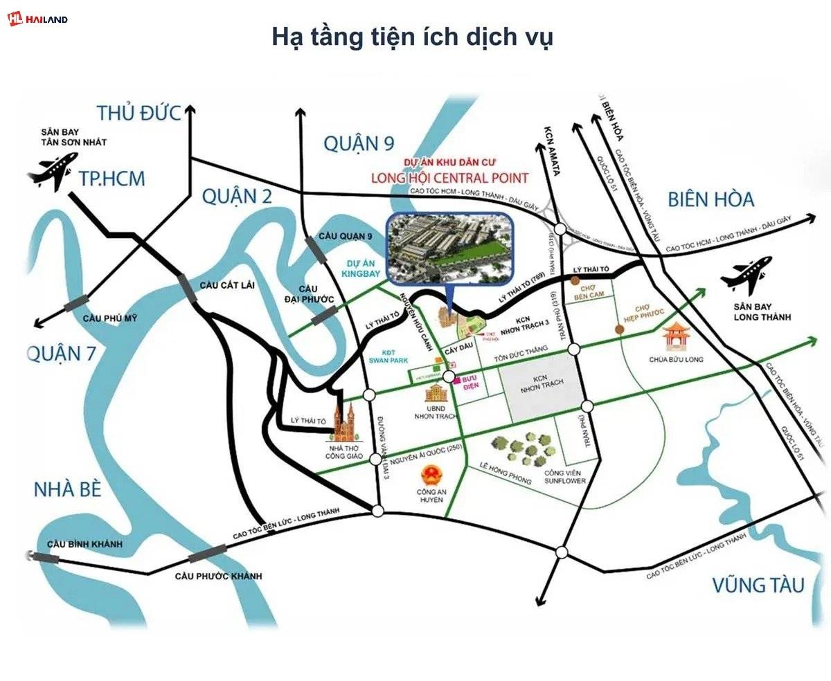 liên kết khu vực của long hội central point