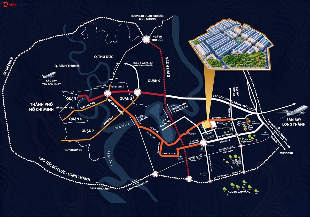 vị trí tiềm năng dự án long hội central point